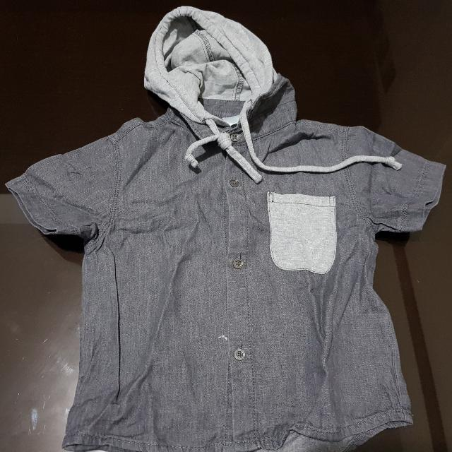 OOTD Polo With Hoodie For Toddler