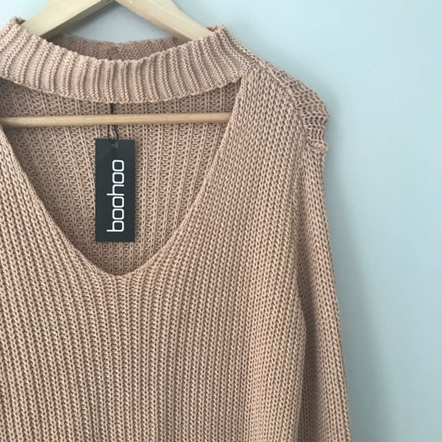 Oversized Knit With Choker Detail