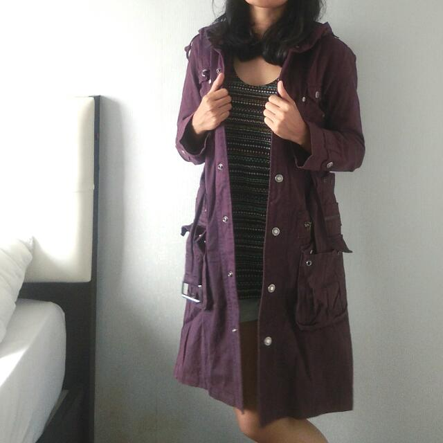 #ClearanceSale Parka Jeans Dark Purple Coat