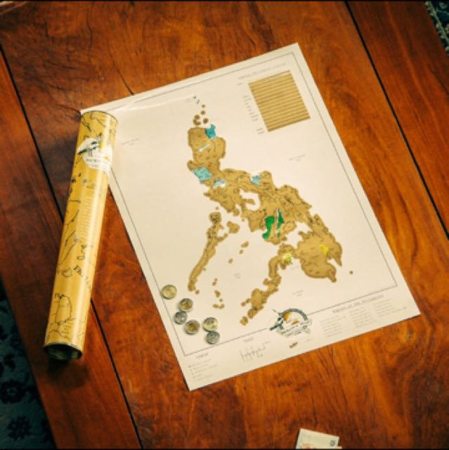 Philippine Scratch Map