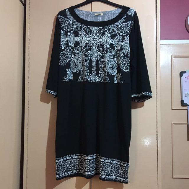 Plus Size Maxine Black & White Dress - 5L