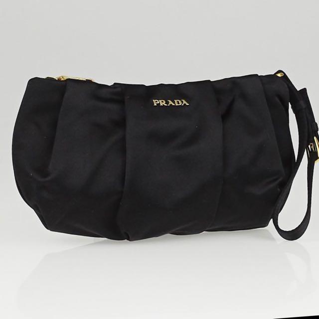 3838da4915 ... ireland prada black tessuto nylon wristlet clutch bag 1n1503 womens  fashion bags wallets on carousell 280e2