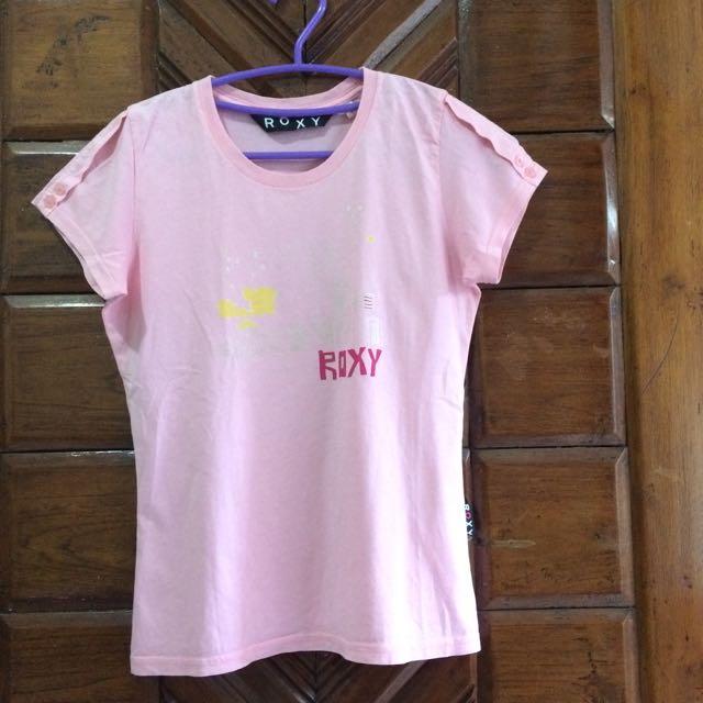 Preloved ROXY Pink Tshirt