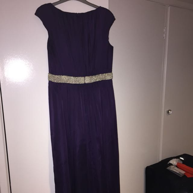 Purple Full Length Dress
