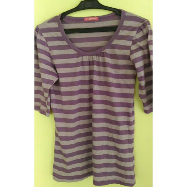 REPRICED! Purple Stripe Top