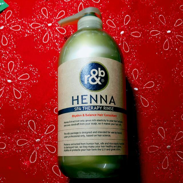 含運,韓國R&B HENNA 蠶絲蛋白柔順潤髮乳