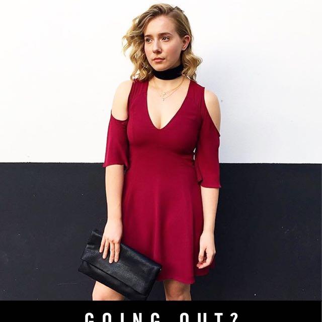 Sportsgirl Red Wine Short Dress