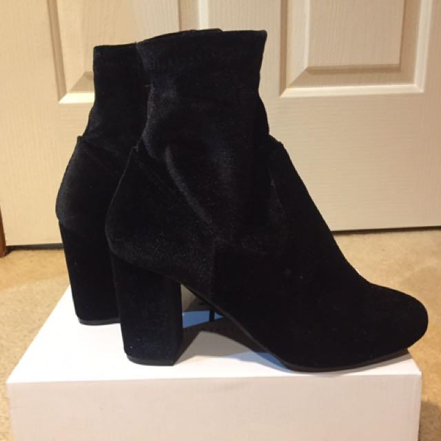 RUBI SHOES- Velvet Boots