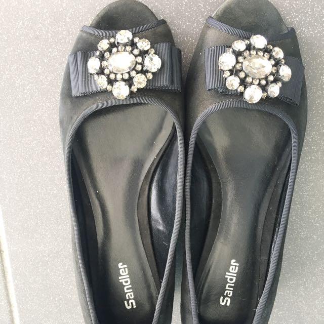 Sandler Evening Peep Toe Shoe Size 8