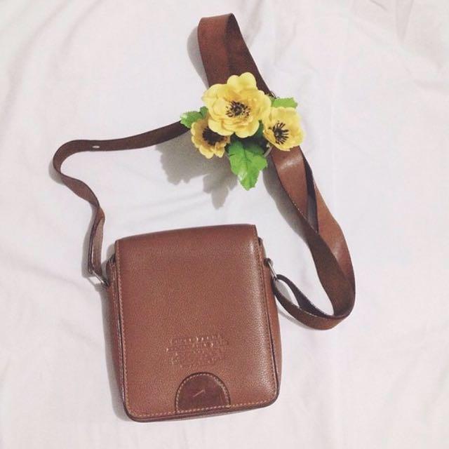 Square Brownie Sling Bag