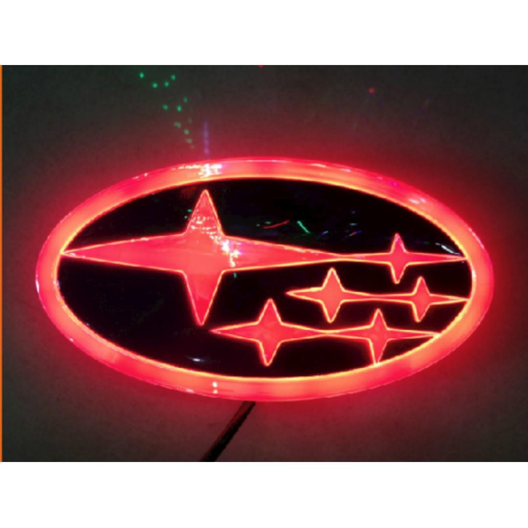 Subaru 4d Led Logo Lighting Light Car Badge Emblem Impreza Outback