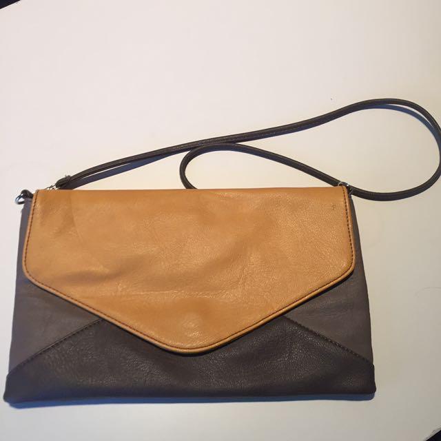 Sussan Envelope Clutch Bag With Detachable Strap