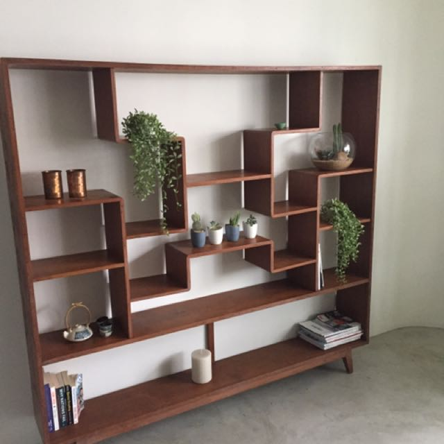 Teak Bookshelf Shelves Furniture Home Decor Antiques On Carousell
