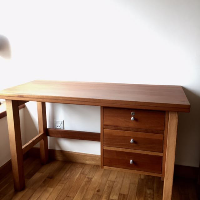 Teak Wood Study Desk Furniture Tables Chairs On Carousell