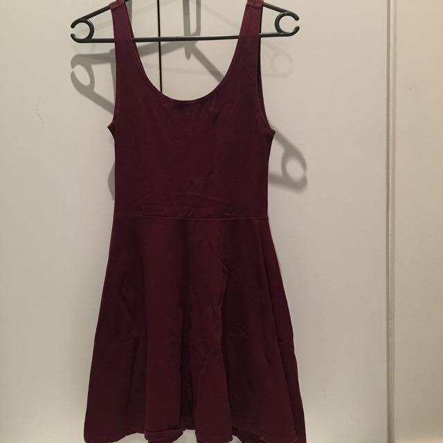 Top Shop Maroon Skater Dress