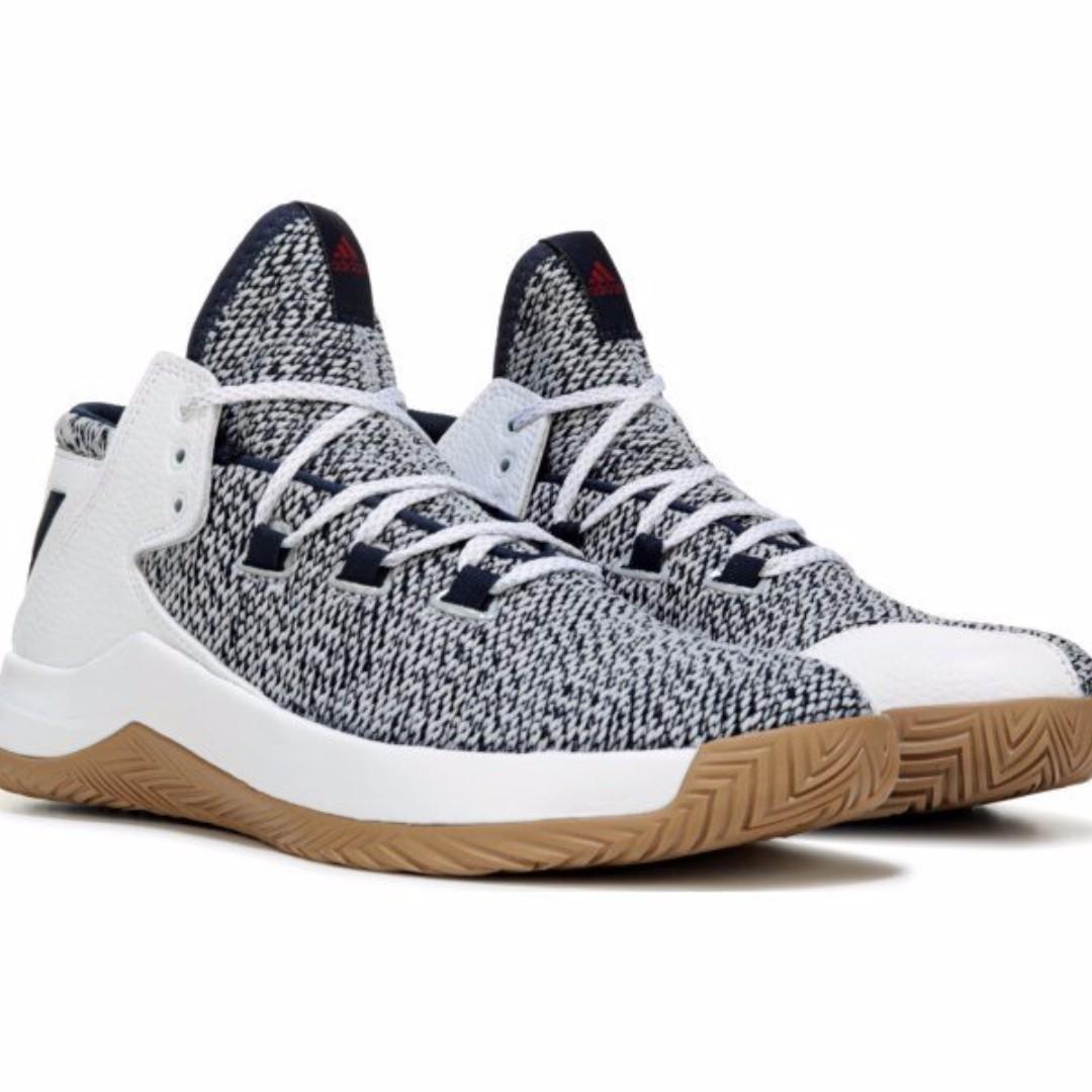 mejor sitio web comprar baratas Amazonas 吉米.tw】Adidas Rise Up 2017 Shoes 雪花灰深藍編織高筒襪套籃球鞋 ...