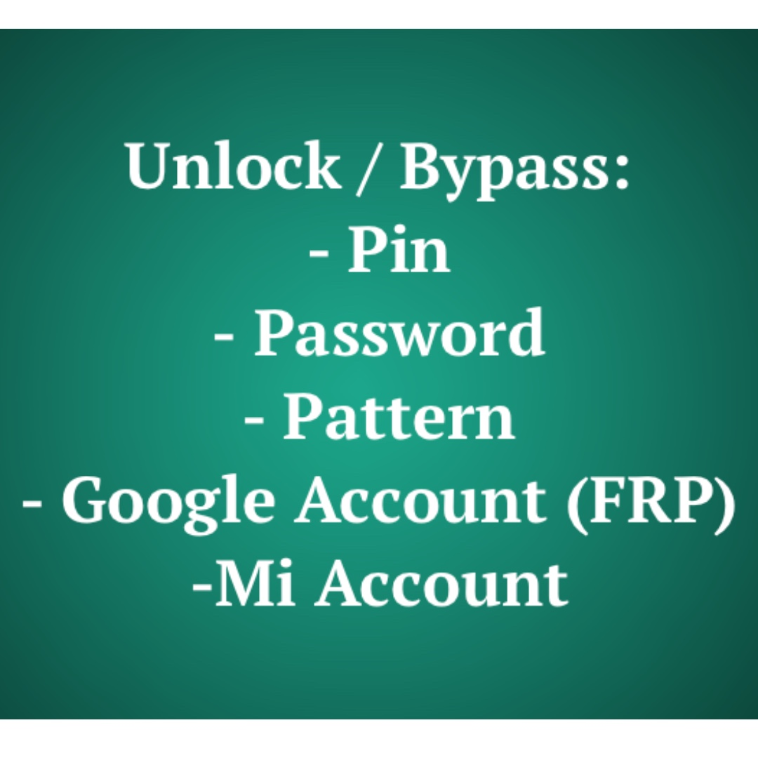 Unlock / Bypass Services, Mobile Phones & Tablets, Android