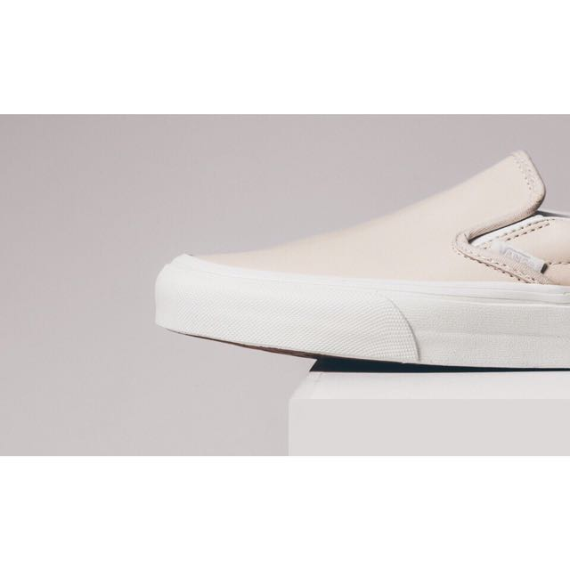 5bbed7468f VANS Classic Leather Slip Ons NUDE