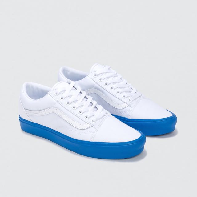 Vans Old Skool Lite White And Blue Sole