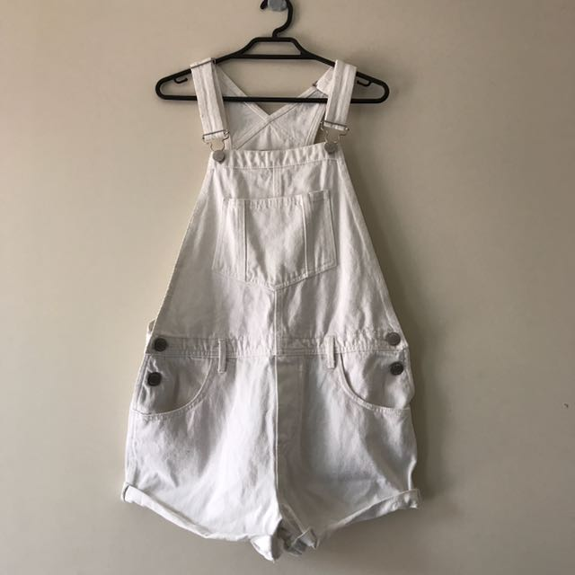 White Denim Overalls