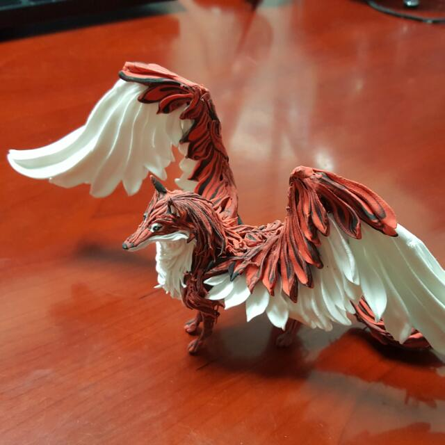 Winged Fox Figurine