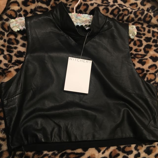 Witchery Leather Crop