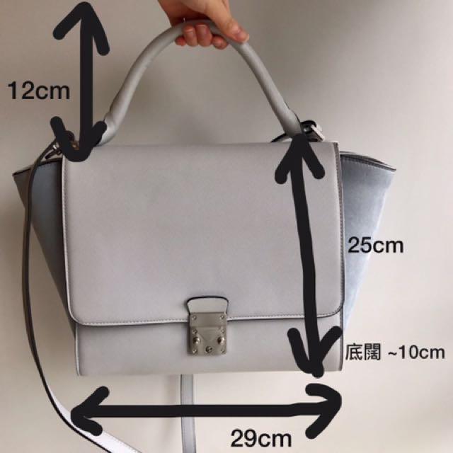 dd7995b5146 Zara 手挽袋Combined City Bag with Buckle 手袋淺藍灰藍, Women's Fashion, Women's Bags  & Wallets on Carousell
