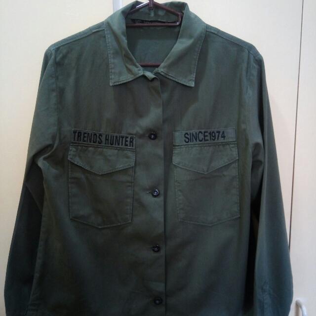 ZARA Military Top/Jacket