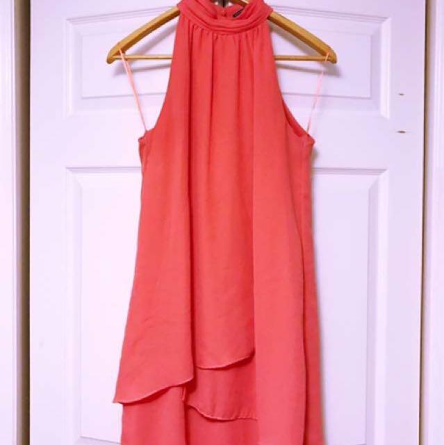 ZARA Orange Mini Dress - Size Small