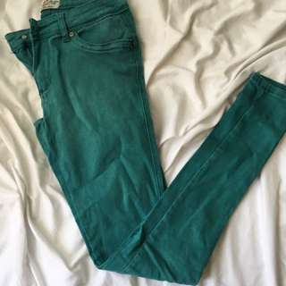 Turquoise Skinny Jeans