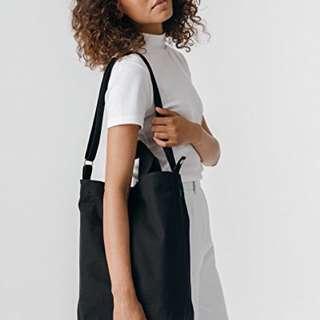 Black BAGGU Canvas Duck Bag