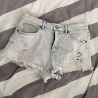 Aeropostale High Waisted Denim Shorts