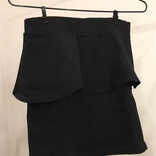 ZARA BLACK SKIRT PEPLUM