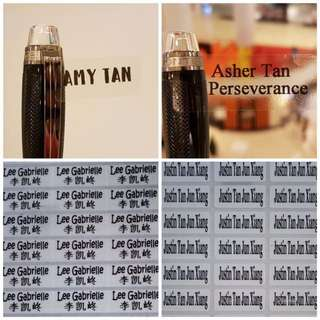 Transparent Name Sticker