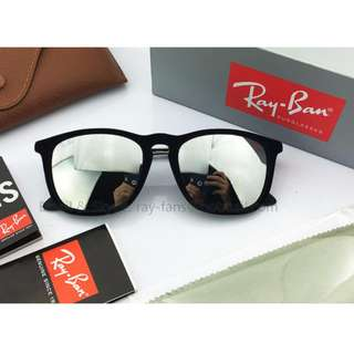 Rayban RB4187F Chris sunglasses, Silver mirror, 99.9% New and 100% real, bought from Lenscrafters