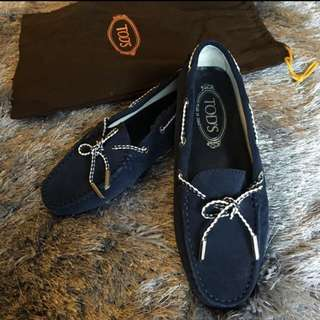 TODS Suede Navy Blue