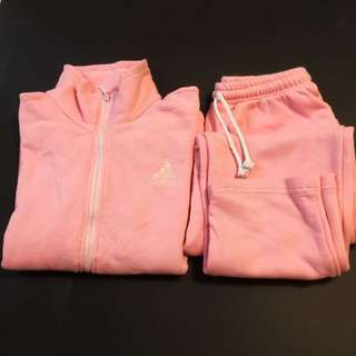 Adidas Pink Sweatshirt And Pants