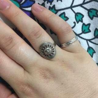 Sterling Silver Sun Ring