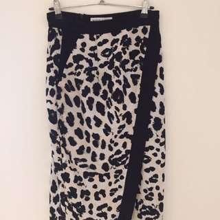 Shona Joy Leopard Skirt Size 6-8 RRP $189.95