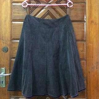 Preloved NEU MOR Brown A-Line Skirt