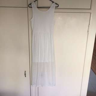 Only Worn Once White Dress