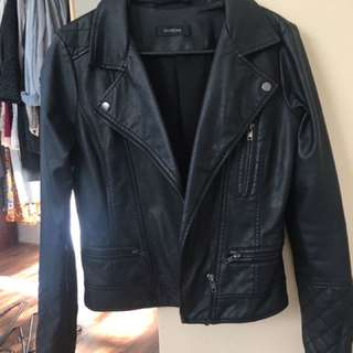 Glassons Black Fake Leather Jacket