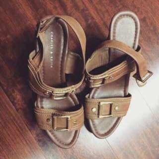 (小CK) Charles&Keith楔型鞋-新加坡專櫃