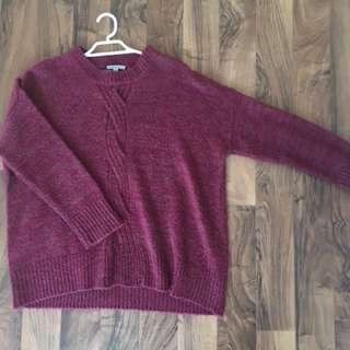 Red Target Knit Jumper