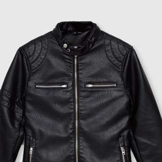Pull & Bear Biker Leather Jacket