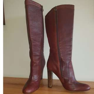 GUESS BOOTS with patterned heel - Genuine