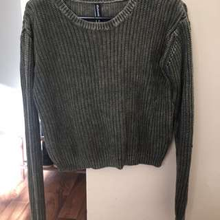 All About Eve Green Crop Jumper