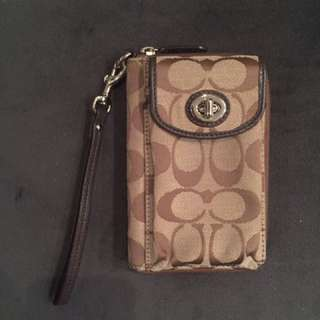 Coach Phone Case Wristlet