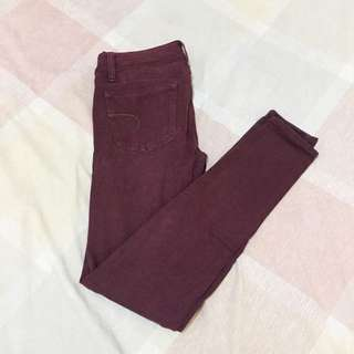 American Eagle Maroon Pants