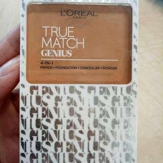 L'Oreal True match Genius 4 in 1 (Primer + Foundation  +Concealer + Powder)